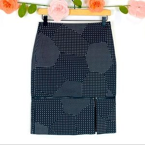 Kate Spade blacks & white Stars Skirt w/ Zip Away